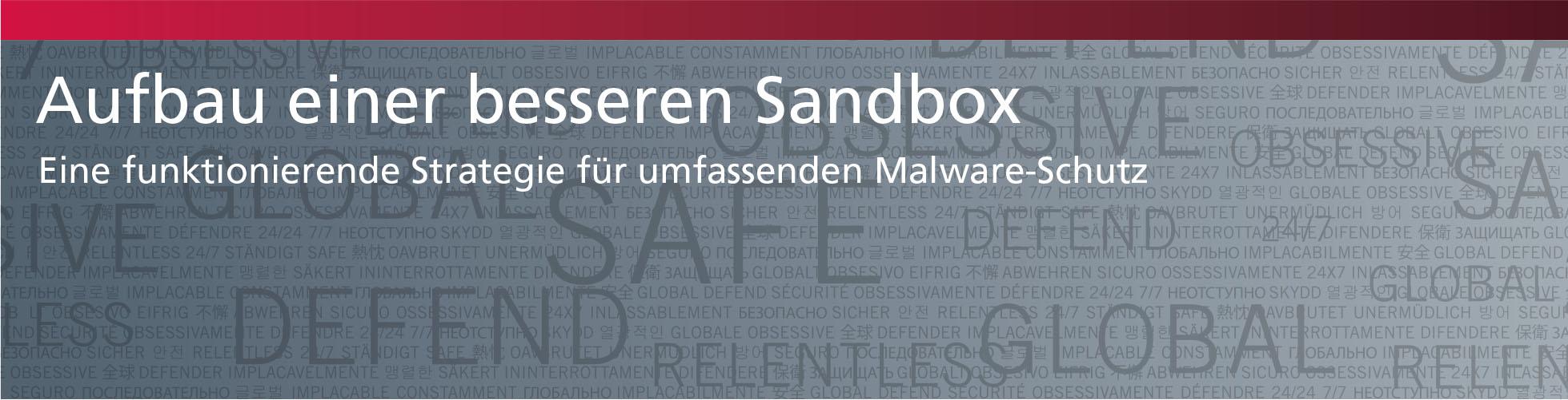 Aufbau einer besseren Sandbox